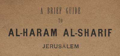 1925 Temple Mount Guide